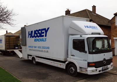 hussey removals mercedes truck