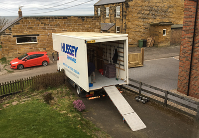 purpose built house removal lorry
